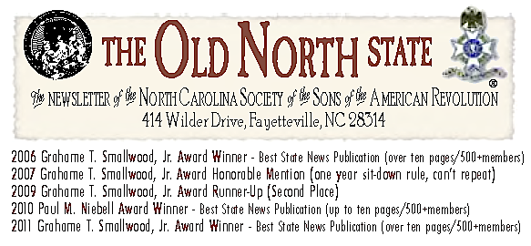 The Old North State Newsletter for North Carolina SAR