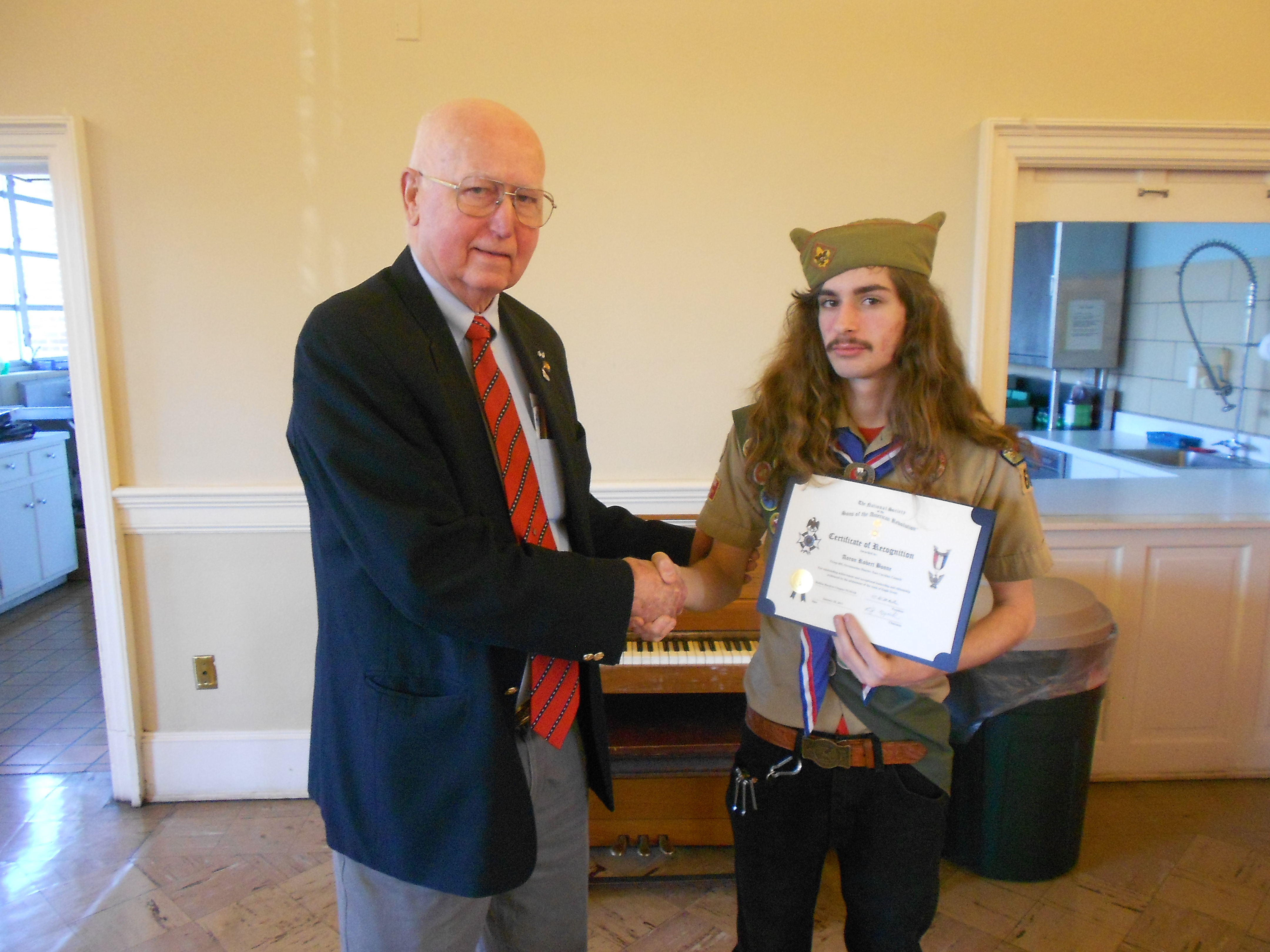Eagle Scout Recognition Certificate Awarded North Carolina Sar