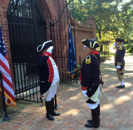SAR Vigil at George Washington's tomb on September 16 2017.