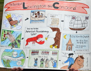 The 2015 Americanism Poster Winner on the theme of Lexington and Concord.