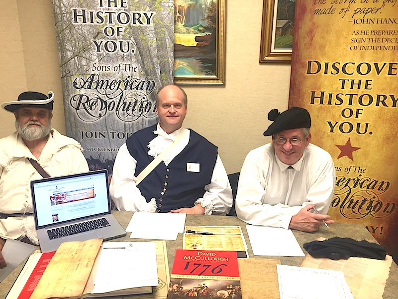 The Mecklenburg chapter, North Carolina SAR, participated in a genealogy seminar at the Gaston County Library on September 26 2015.