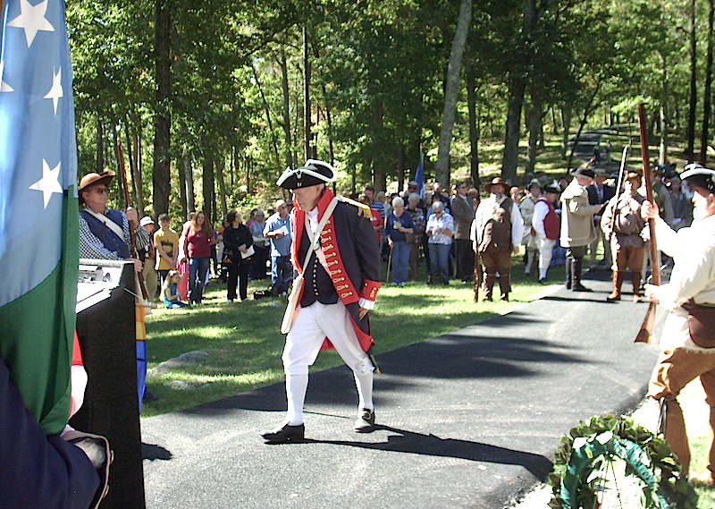Battle of Kings Mountain chapter president Doyle Campbell presents honors during the 235th Anniversary of the Battle of Kings Mountain on October 7 2015.