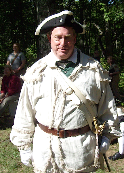 North Carolina SAR President Tim Berly attends the 235th Anniversary of the Battle of Kings Mountain on Oct. 7 2015 in Kings Mountain SC.