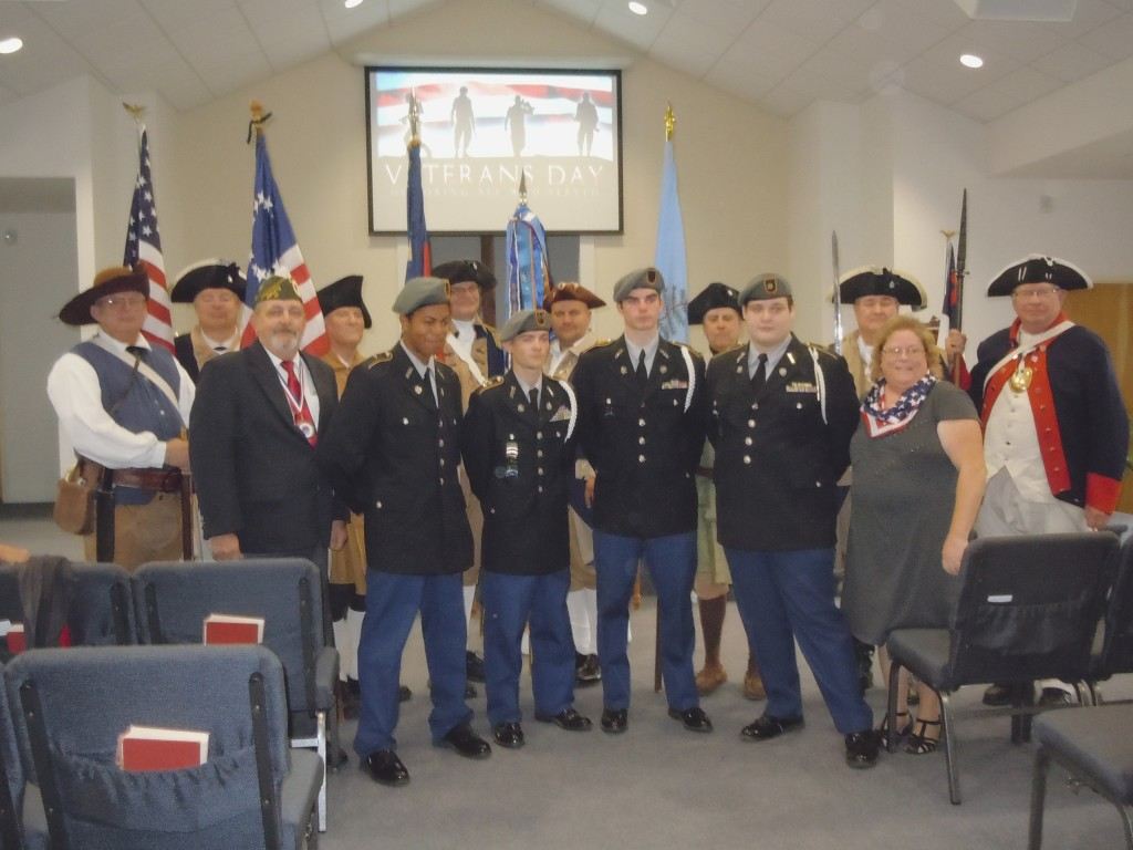 Color Guard with AMVETS & AJROTC