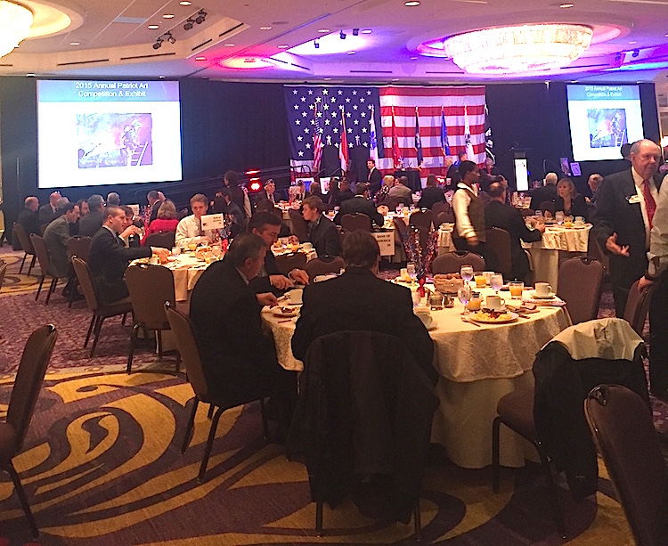 Mecklenburg chapter members attend the Carolinas Freedom Breakfast on November 9 2015.