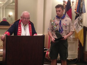 Robert Penna-Welch recieves scholarship for work as an Eagle Scout