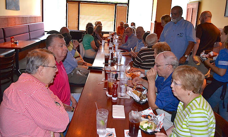 Mecklenburg chapter social lunches at Dilworth Neighborhood Grille in Charlotte.