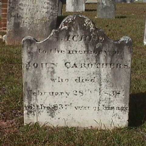 Mecklenburg chapter SAR is sponsoring a grave marking ceremony for Revolutionary War Patriot John Carothers at 10:00am at Steele Creek Presbyterian Church in Charlotte, NC.