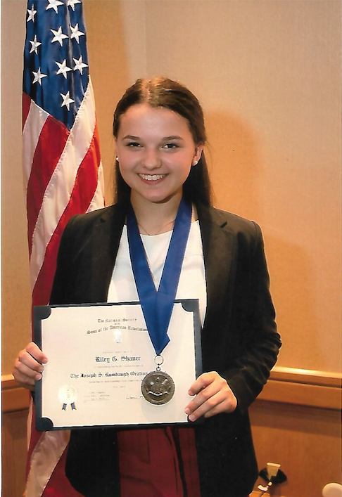 North Carolina SAR Rumbaugh contestant Riley Shaner won the SAR National contest at Congress in California on July 10 2019.