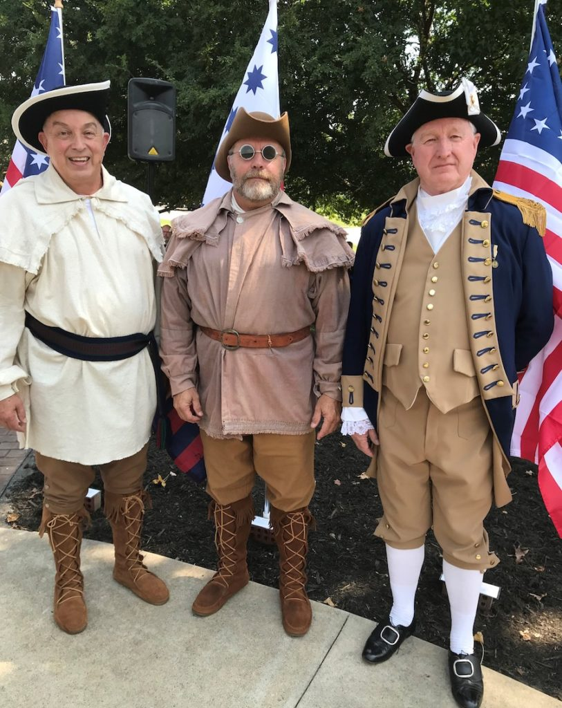 Members of the  Blue Ridge SAR chapter participate in the Charters of Freedom on September 17 2019 in NC.