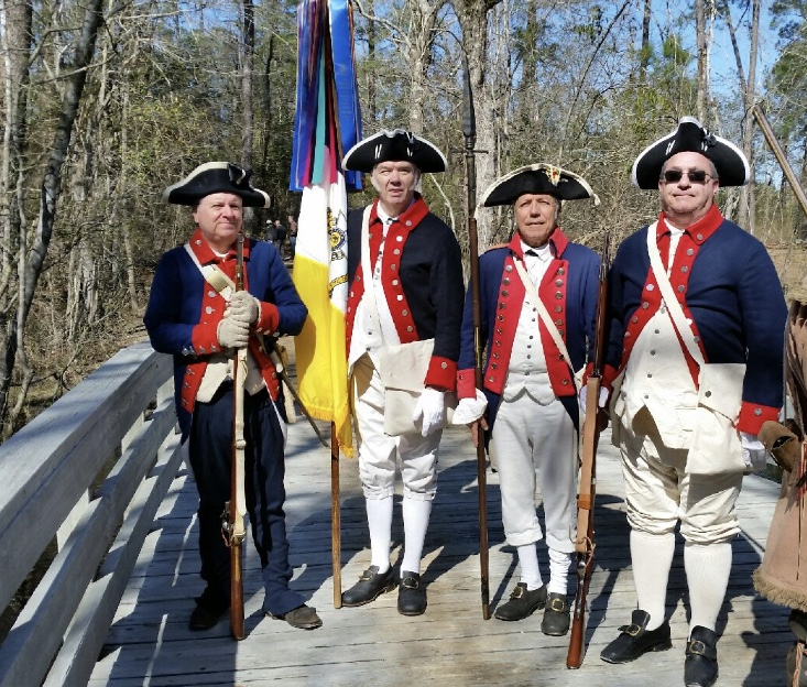 Gen George Washington SAR chapter members attend the Battle of Moores Creek ceremony on February 22 2020 in Currie, NC.