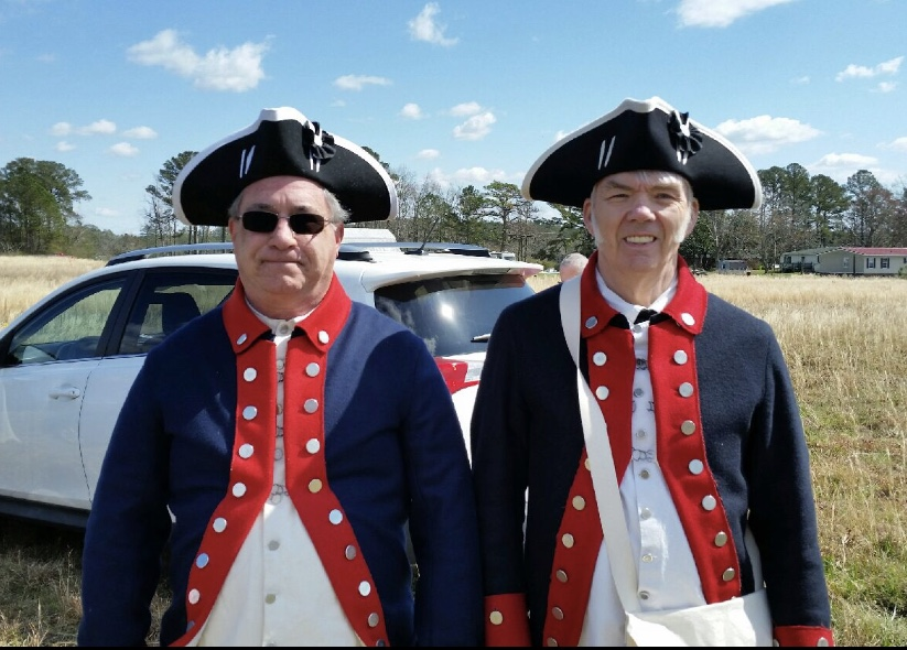 Gen George Washington SAR chapter members attend a Compatriot grave marking in Havelock, NC, on March 7 2020.