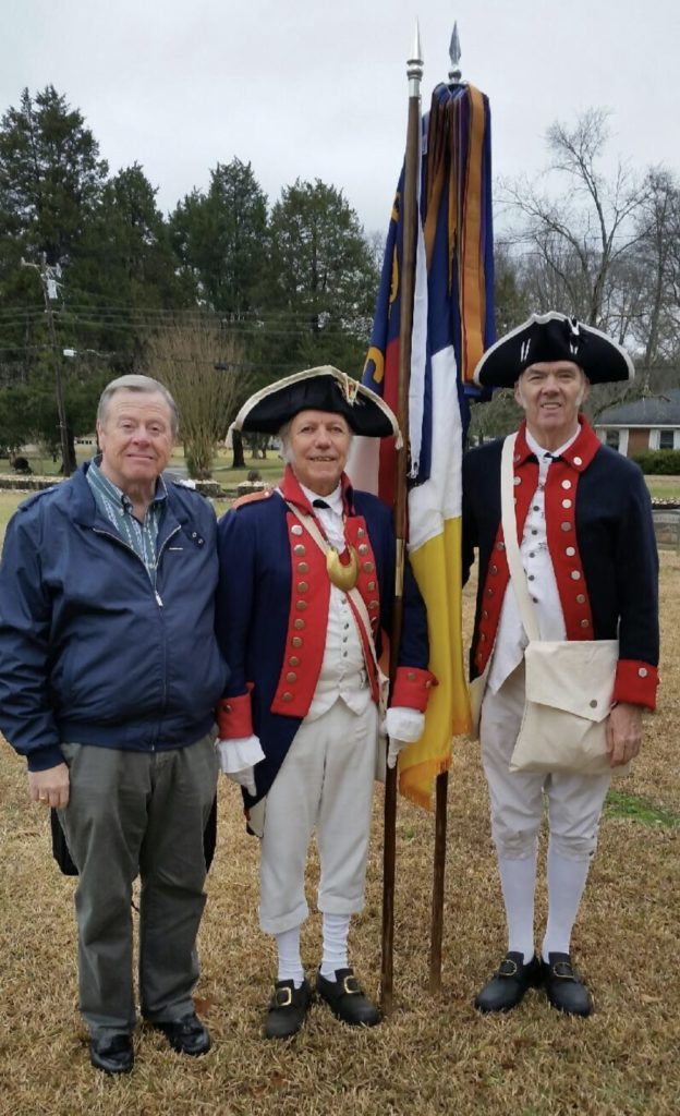 Gen George Washington SAR chapter members attend the Battle of Cowan's Ford on February 1 2020 in Huntersville, NC